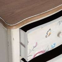 Poppy Cream Chest Of Drawers For Sale - ChicParadisLux